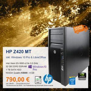 Top-Angebot: HP Z420 MT nur 790 €