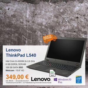 Top-Angebot: Lenovo ThinkPad L540 nur 349 €