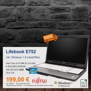 Top-Angebot: Fujitsu Lifebook E752 nur 199 €