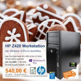 Top-Angebot: HP Z420 nur 540 €