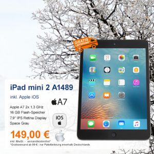 Top-Angebot: Apple iPad mini 2 A1489 nur 149 €