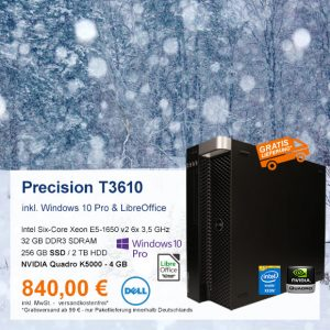 Top-Angebot: Dell Precision T3610 nur 840 €