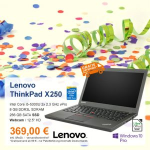 Top-Angebot: Lenovo ThinkPad X250 nur 369 €
