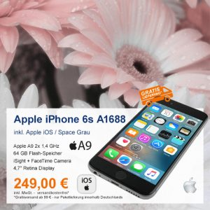 Top-Angebot: Apple iPhone 6s A1688 nur 249 €
