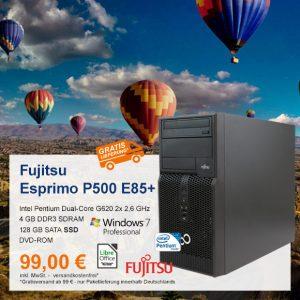 Top-Angebot: Fujitsu Esprimo P500 E85+ nur 99 €