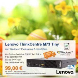 Top-Angebot: Lenovo ThinkCentre M73 Tiny nur 99 €