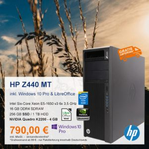 Top-Angebot: HP Z440 Mini Tower nur 790