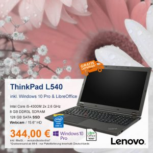 Top-Angebot: Lenovo ThinkPad L540 nur 344 €