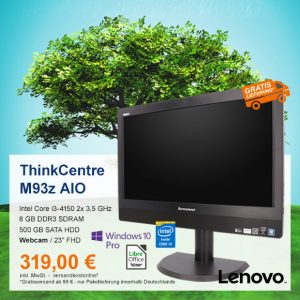 Top-Angebot: Lenovo ThinkCentre M93z AIO nur 319 €