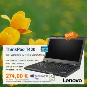 Top-Angebot: Lenovo ThinkPad T430 nur 274 €