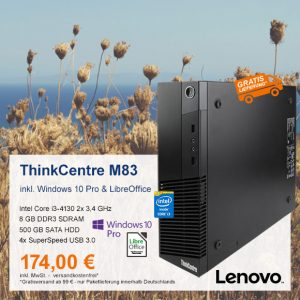 Top-Angebot: Lenovo ThinkCentre M83 nur 174 €