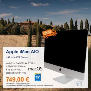 Top-Angebot: Apple iMac A1418 AIO nur 749 €