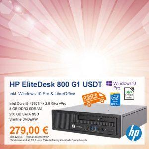 Top-Angebot: HP EliteDesk 800 G1 USDT nur 279 €