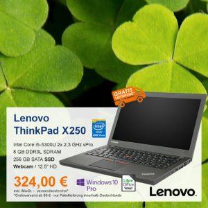 Top-Angebot: Lenovo ThinkPad X250 nur 324 €