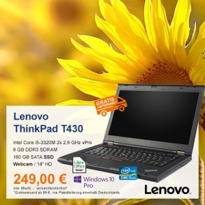 Top-Angebot: Lenovo ThinkPad T430 nur 249 €