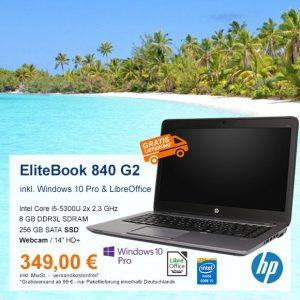 Top-Angebot: HP EliteBook 840 G2 nur 349 €