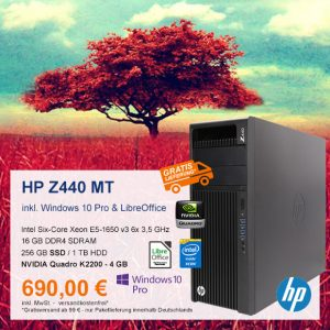 Top-Angebot: HP Z440 Mini Tower nur 690 €