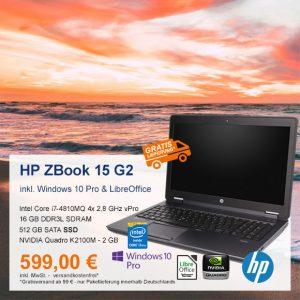 Top-Angebot: HP ZBook 15 G2 nur 599 €