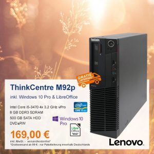 Lenovo ThinkCentre M92p SFF nur 169 €