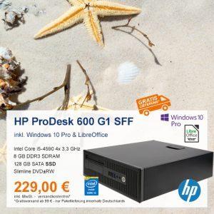 Top-Angebot: HP ProDesk 600 G1 SFF nur 229 €