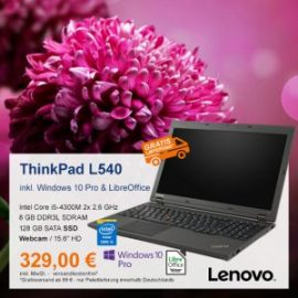 Top-Angebot: Lenovo ThinkPad L540 nur 329 €