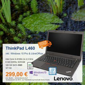 Top-Angebot: Lenovo ThinkPad L460 nur 299 €