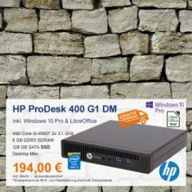 Top-Angebot: HP ProDesk 400 G1 Mini nur 194 €
