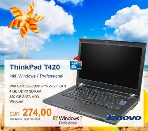 Top-Angebot: Lenovo ThinkPad T420 nur 274 €