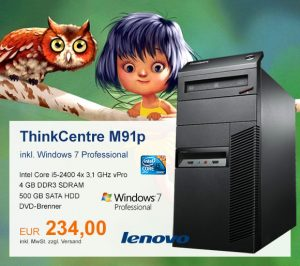 Top-Angebot: Lenovo ThinkCentre M91p nur 234 €