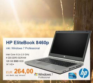 Top-Angebot: HP EliteBook 8460p nur 264 €