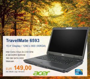 Top-Angebot: Acer TravelMate 6593 nur 149 €