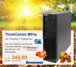 Top-Angebot: Lenovo ThinkCentre M91p nur 349 €