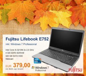 Top-Angebot: Fujitsu Lifebook E752 nur 379 €