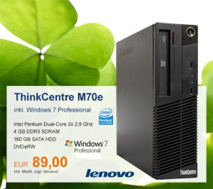 Top-Angebot: Lenovo ThinkCentre M70e nur 89 €