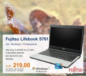 Top-Angebot: Fujitsu Lifebook S761 nur 219 €