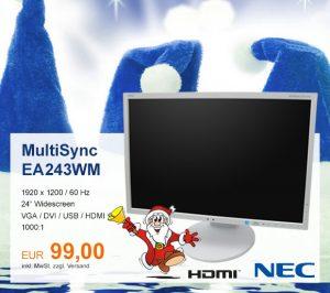 Top-Angebot: NEC MultiSync EA243WM nur 99 €