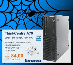 Top-Angebot: Lenovo ThinkCentre A70 nur 84 €