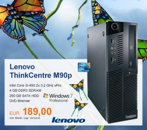 Top-Angebot: Lenovo ThinkCentre M90p nur 189 €