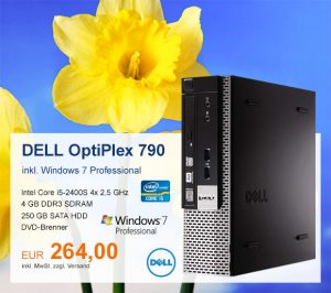 Top-Angebot: DELL OptiPlex 790 nur 264 €