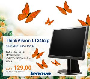Top-Angebot: Lenovo ThinkVision LT2452p nur 129 €