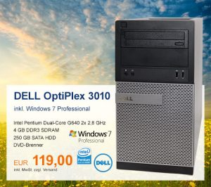 Top-Angebot: DELL OptiPlex 3010 nur 119 €