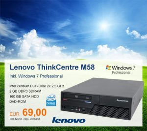 Top-Angebot: Lenovo ThinkCentre M58 nur 69 €