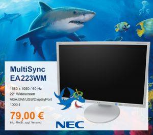 Top-Angebot: NEC MultiSync EA223WM nur 79 €