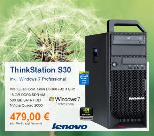 Top-Angebot: Lenovo ThinkStation S30 nur 479 €
