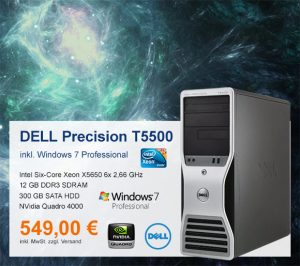 Top-Angebot: DELL Precision T5500 nur 549 €