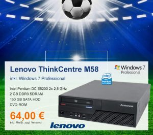 Top-Angebot: Lenovo ThinkCentre M58 nur 64 €