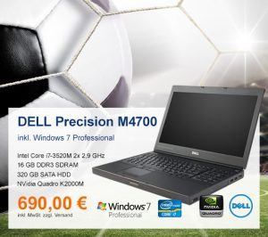 Top-Angebot: DELL Precision M4700 nur 690 €
