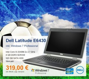 Top-Angebot: Dell Latitude E6430 nur 319 €