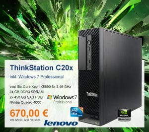 Top-Angebot: Lenovo ThinkStation C20x nur 670 €