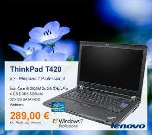 Top-Angebot: Lenovo ThinkPad T420 nur 289 €